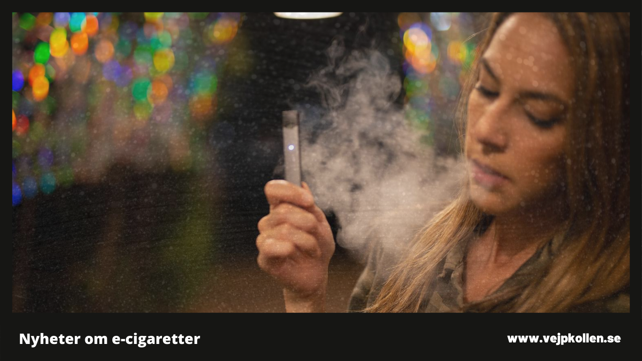 Illusterar ung person med e-cigarett
