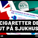Brittiska sjukhus delar ut gratis e-cigaretter till rökare