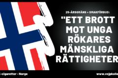 Norge reglerar e-cigaretter. Men bara med tobakssmaker och en åldersgräns på 25 år.