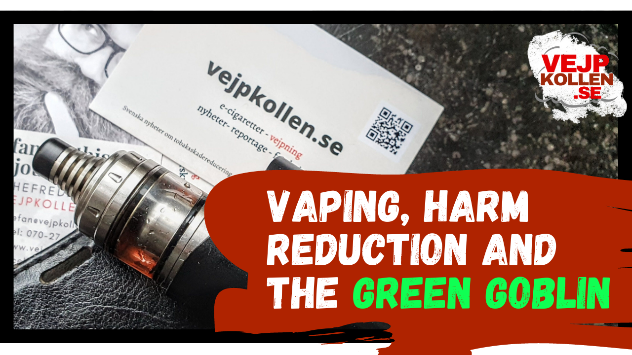 On vaping, snus, and harm reduction in Sweden 2021.