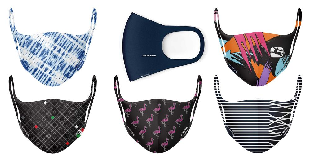 Giordana Cycling: a large cycling face mask assortment