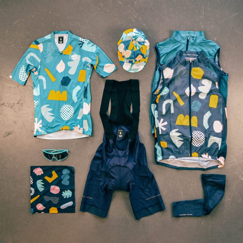 Victory Chimp papercut cycling clothing collection