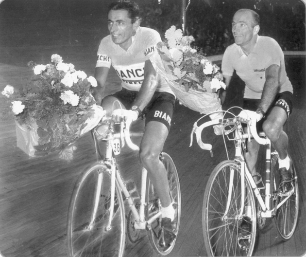 Fausto Coppi winning the Giro d'Italia