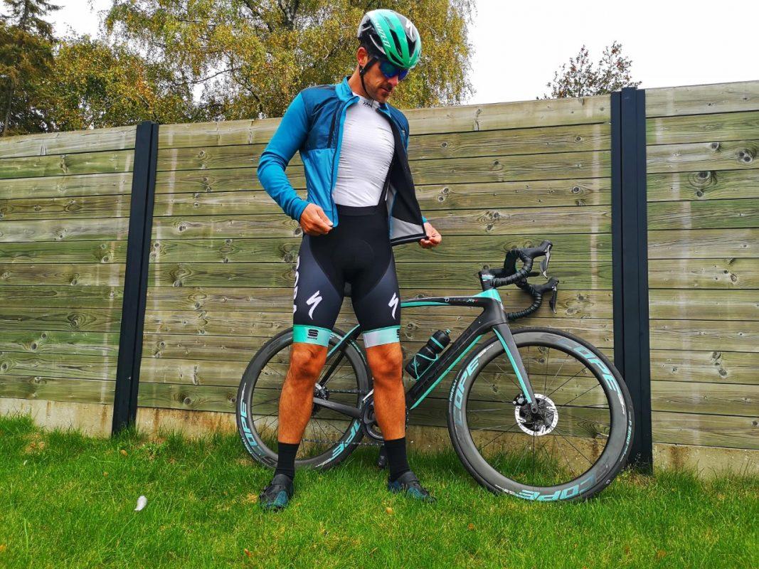 My Sportful Supergiara Winter Cycling Jacket  and x bionic baselayer