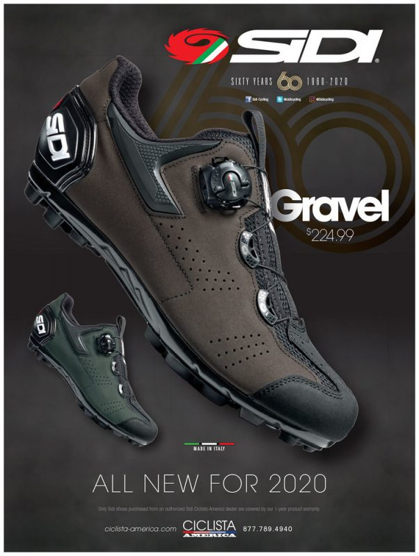 Sidi gravel shoes : brown and green