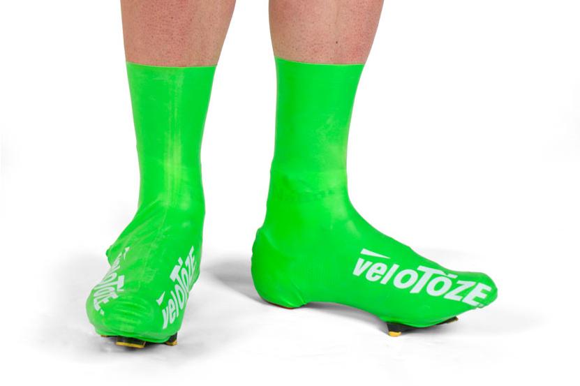 Velotoze green waterproof shoe covers