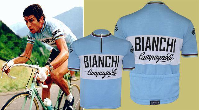 bianchi campagnolo retro cycling jersey