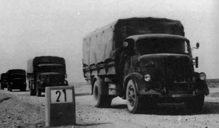 Bianchi trucks during the World War