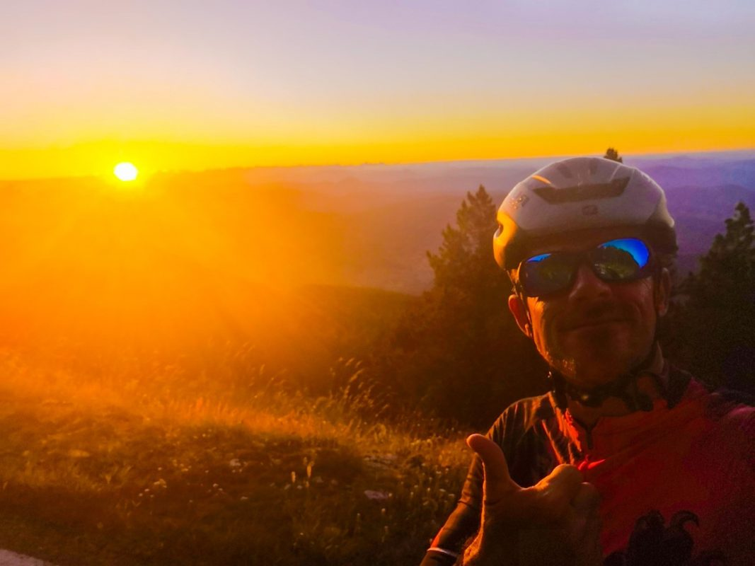 Me in the early morning of my bicinglé du Ventoux