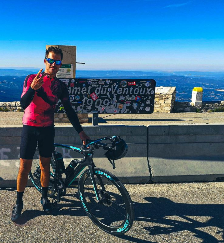 After my second climb there was the freezing descent to Bédoin