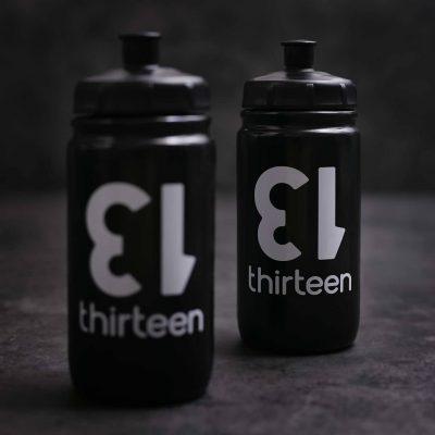 thirteen water bottles