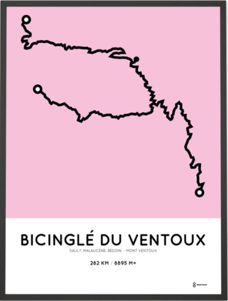 Sportymaps: my bicinglé du Ventoux personalized poster