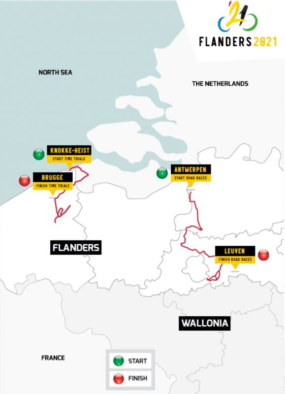 UCI Cycling World Championship 2021 Flanders races