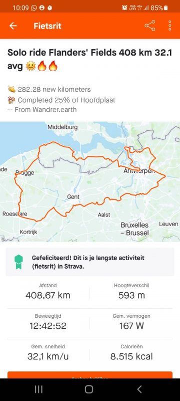 My Ultra Endurance Cycling Ride crossing Flanders