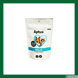 Aptus Relax, tuggbitar med lugnande fodertillskott. Säljs i Vetbutiken.