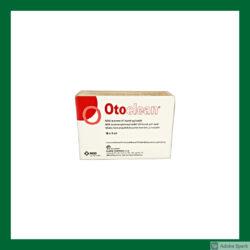 Vit förpackning med röd text. Otoclean 18 x 5 ml öronrengöring. Finns i Vetbutiken.