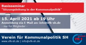 Basisseminar: Sitzungsleitung in der Kommunalpolitik @ Zoom-Videokonferenz