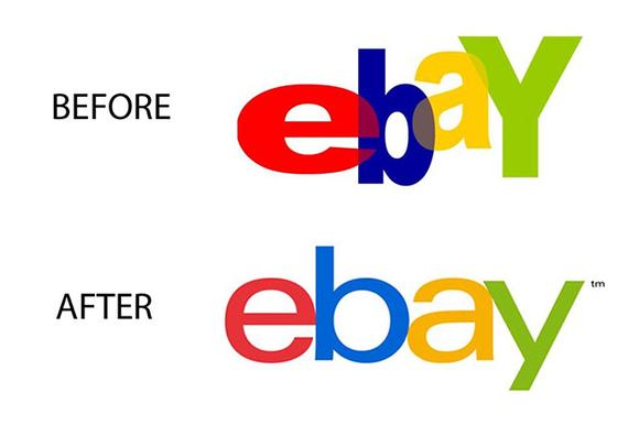 Ebay change branding logo