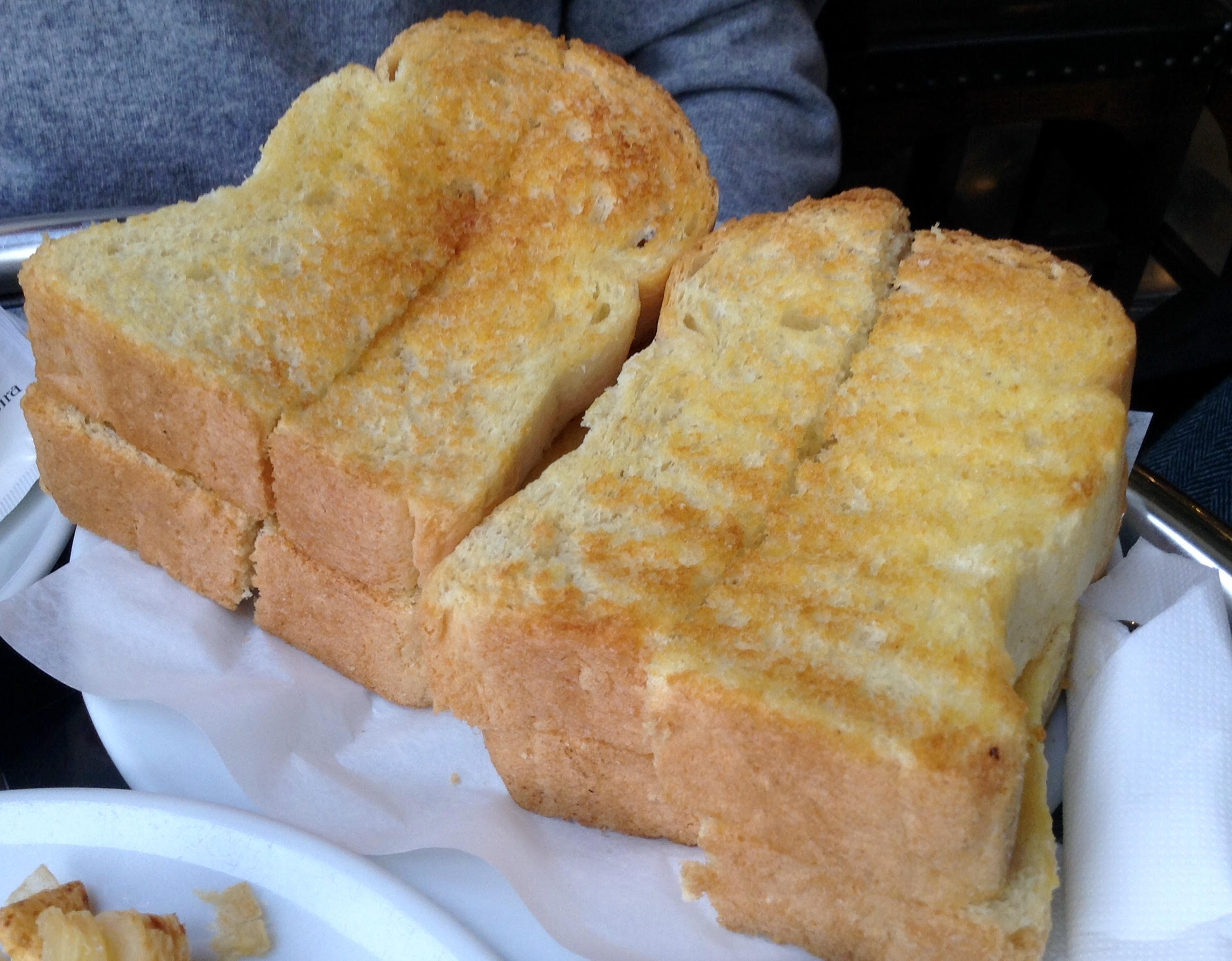 Tostadas para merendar con mantequilla