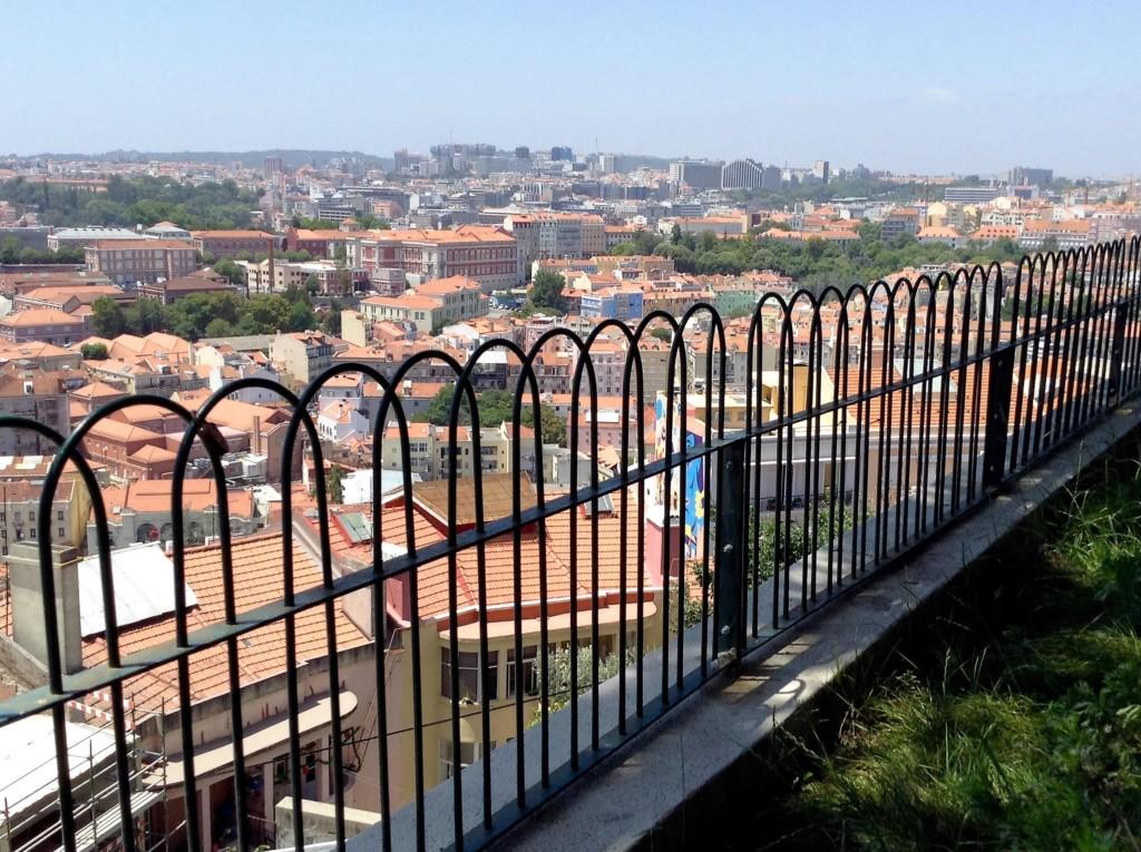 Vista infinita de Lisboa