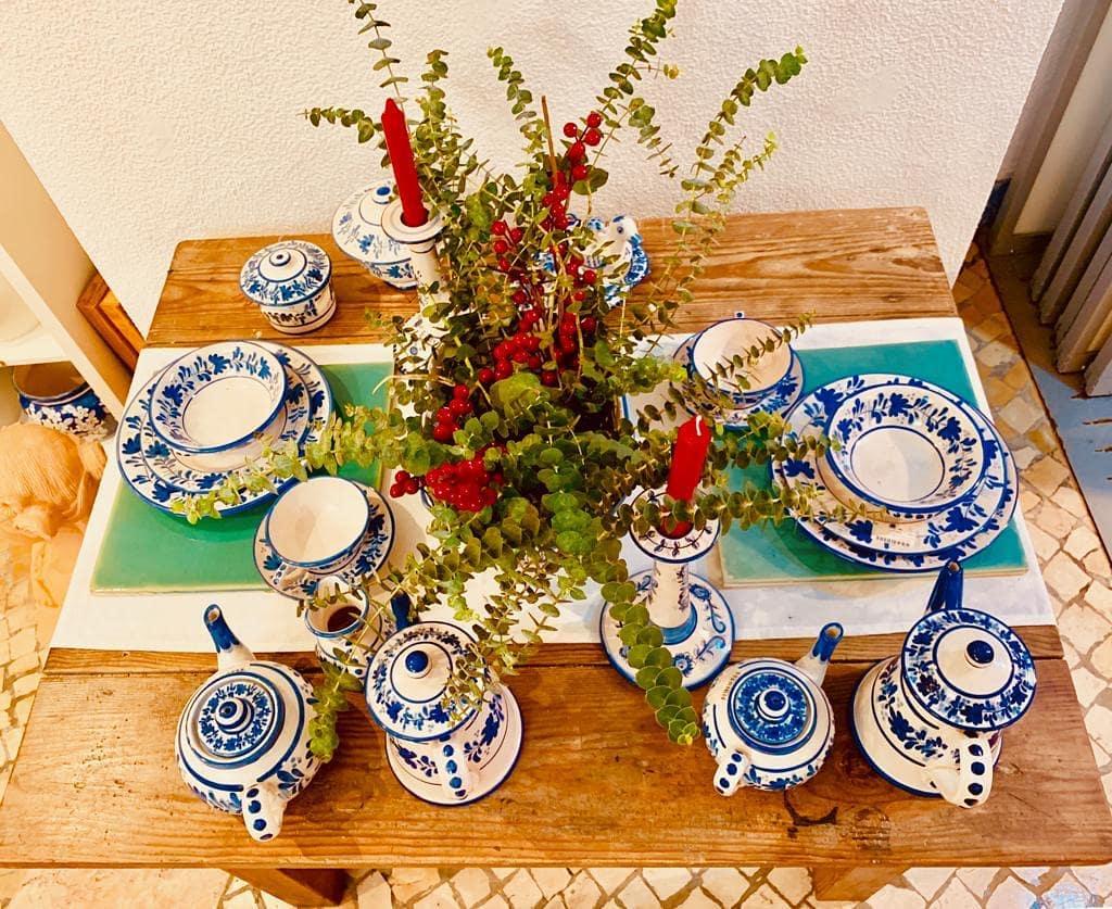 Piezas ceramica pintadas por los artistas artesanos de Viuva Lamego