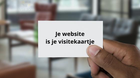 Website is visitekaartje