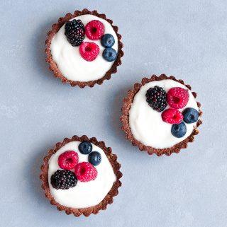 fruit tarts, vegan, gluten free, dairy free