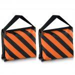 Neewer Set of Two Black/Orange Heavy Duty Sand Bag Photography Studio