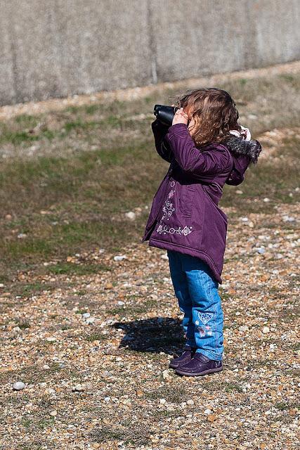 Bo Birdwatching at Dungeness