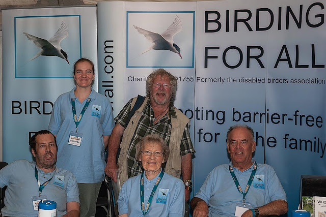 Bill Oddie with the Birding For All team last year