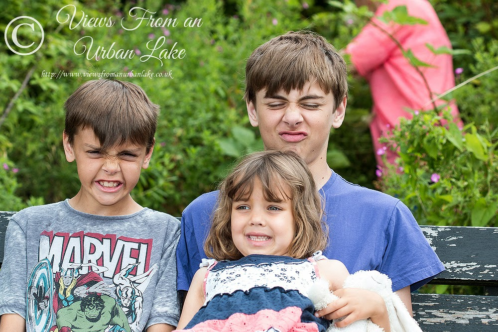 My kids pull the nicest faces
