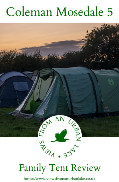 Coleman Mosedale 5 Family Tent - reviewed by Views from an Urban Lake & Family