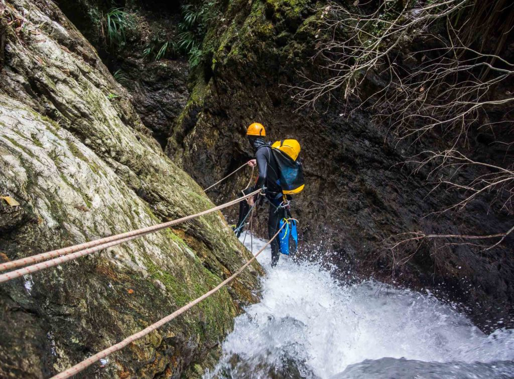 Climbing Through Water