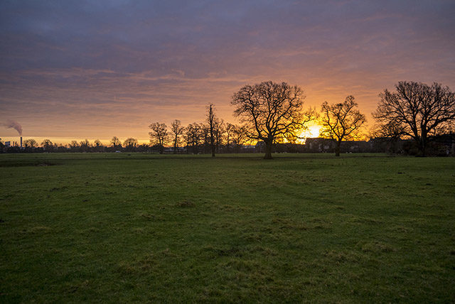 Sunrise over Manor Farm Fields Old Wolverton