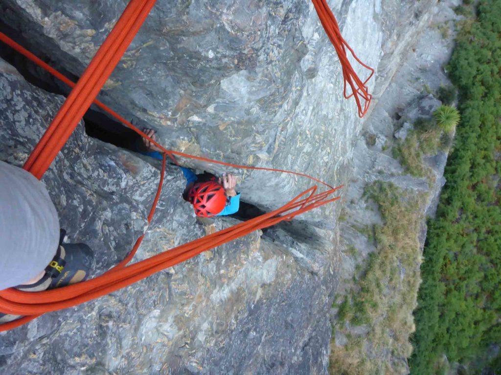 Climbing through cracks