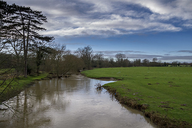 River Ouse running deep and brown