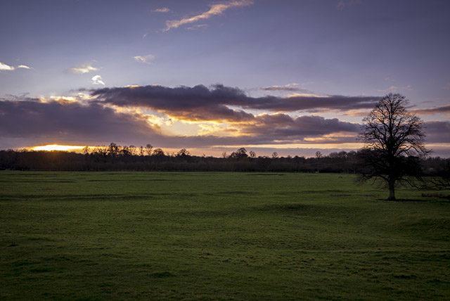 Start of Sunset - Sunset in the Ouse Valley, Milton Keynes