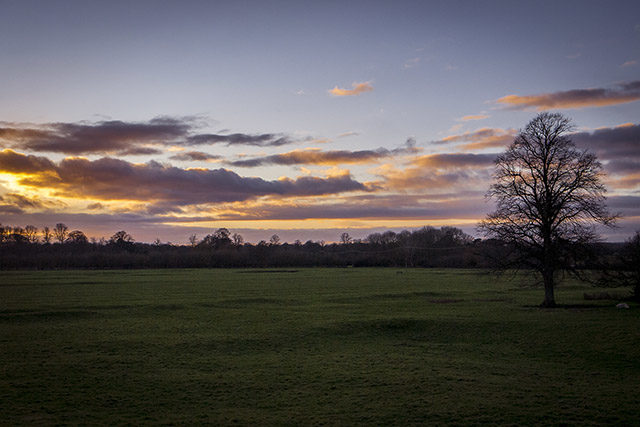 One of my two favourite images of the Sunset - Sunset in the Ouse Valley, Milton Keynes