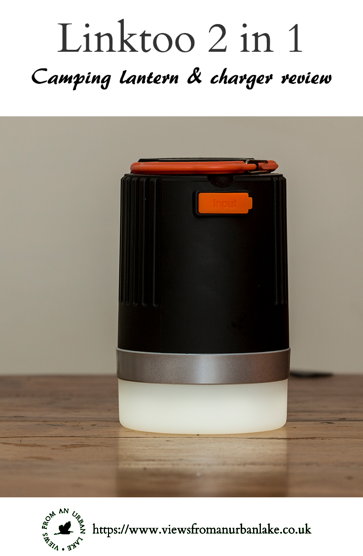 Linktoo 2 in 1 camping lantern & mobile charger reviewed by Views from an Urban Lake