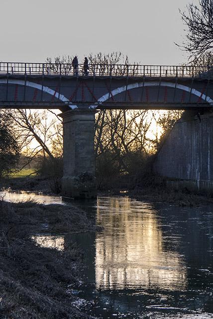 Aqueduct in failing light