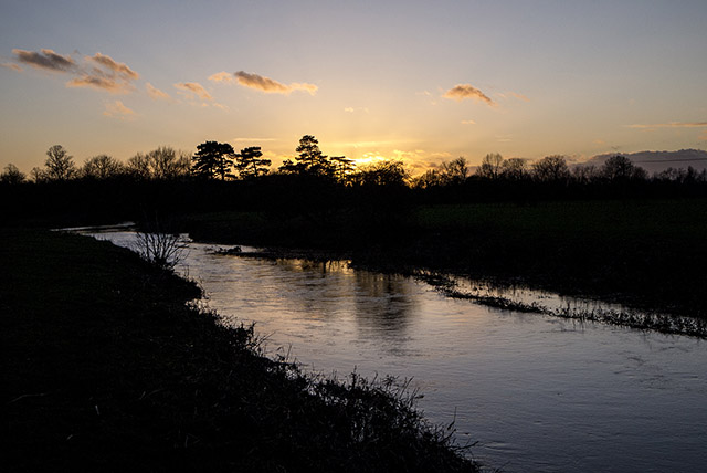 Sunset in the Ouse Valley