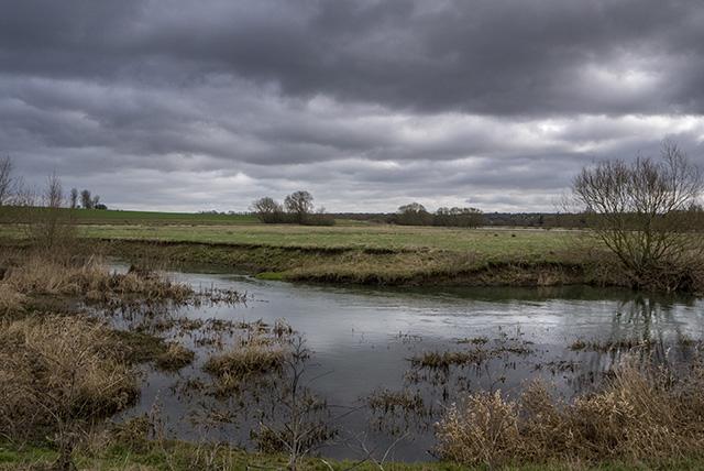 Grey Skies over fields below Haversham