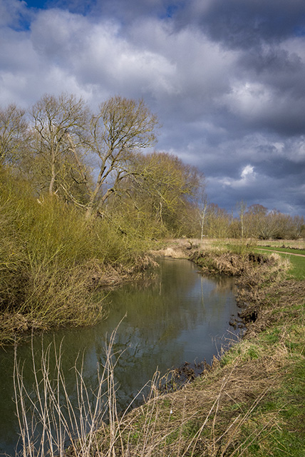 Blue Skies slowly breaking through above River Ouse