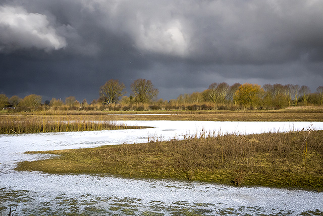 The Beast From the East - Storm clouds, & snow on the frozen water
