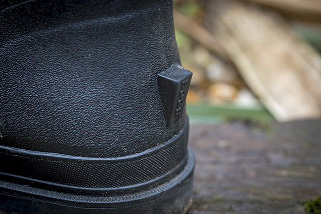 Lump on rear of Rancher boot to help get the boot off.