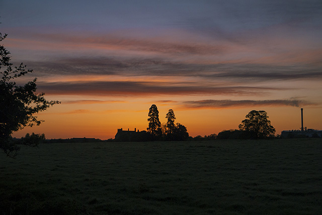 Sunrise over Manor Farm in Old Wolverton, Milton Keynes