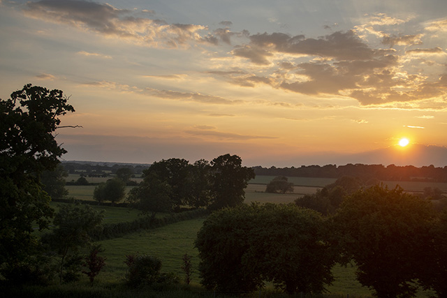Sun setting over the Ouse Valley