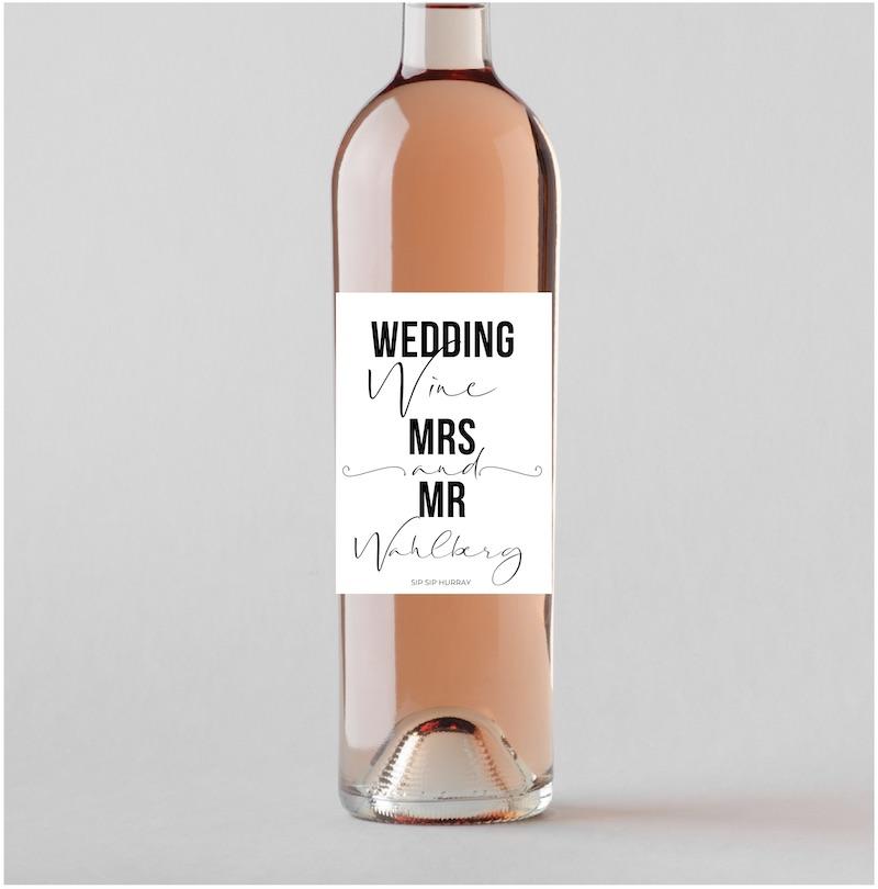 Vinetikett Bröllop