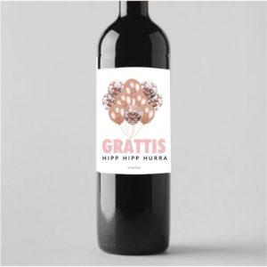 Ge bort vinflaska