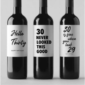 30 års-present vinflaska